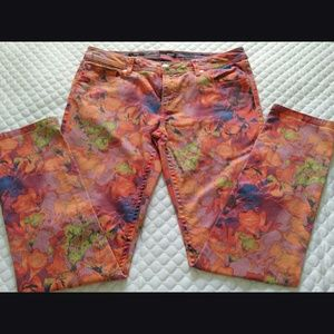 Ana floral skinny jeans Size 31/12